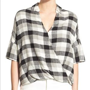 Madewell 'Courier' Drape Front Shirt